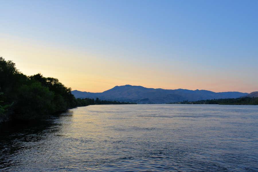 Sunset in Wenatchee, Washington.
