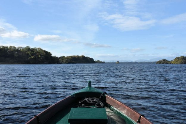 Innisfallen boat tour across the lake in Killarney.