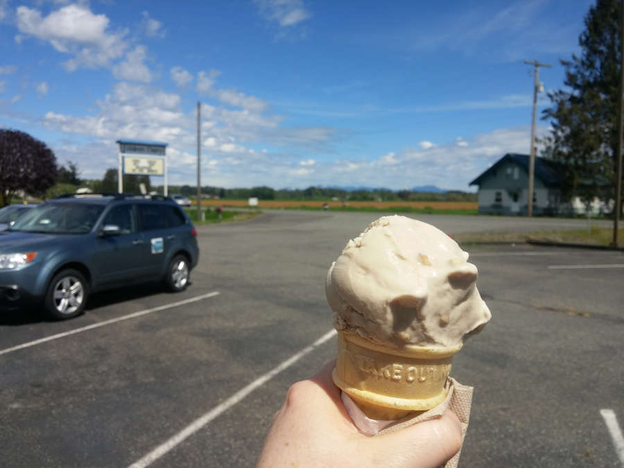 Ice cream from Edaleen Diary in Lynden, Washington.