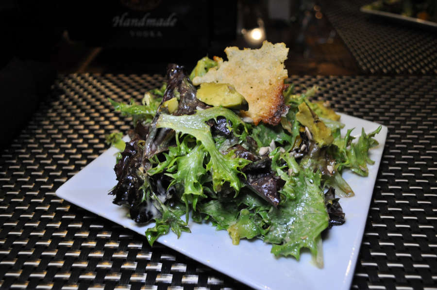 A salad at Perfectly Paired in Lynden, Washington.