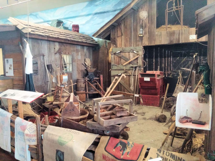 Exhibits at the Pioneer Museum in Lynden, Washington.