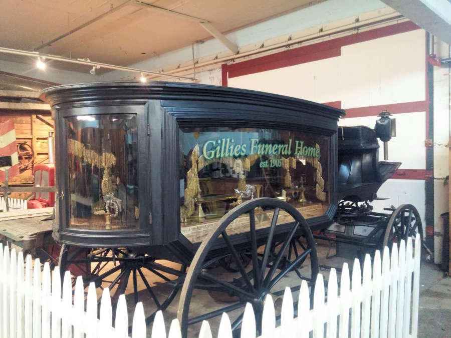 Funeral carriage at the Pioneer Museum in Lynden, Washington.
