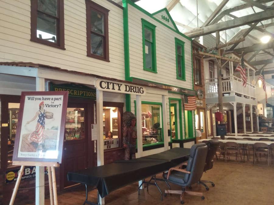 Pioneer museum town.