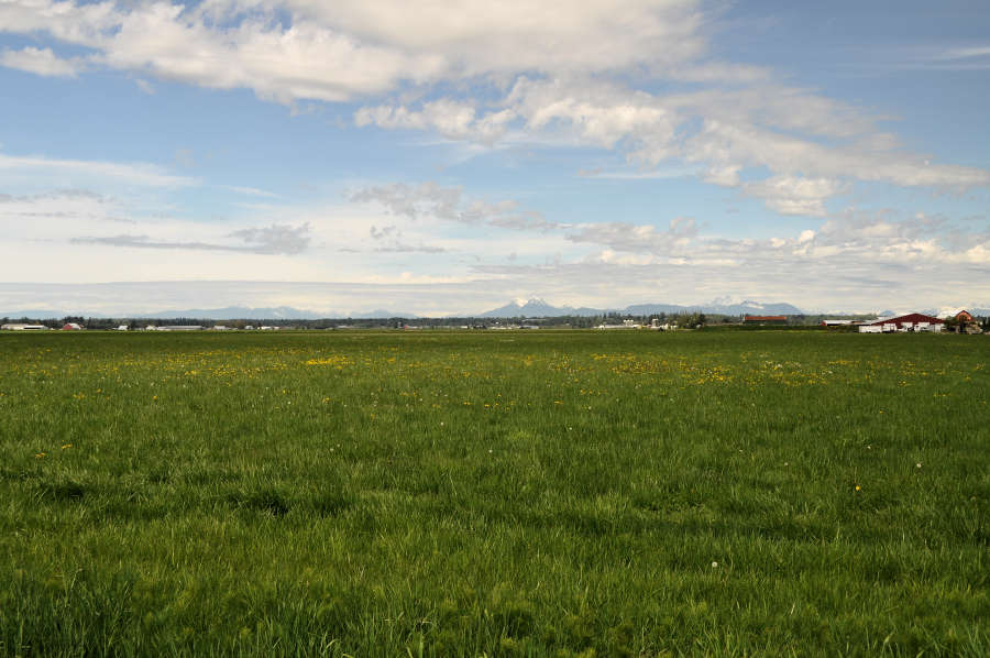 View of Canada from Lynden, Washington.