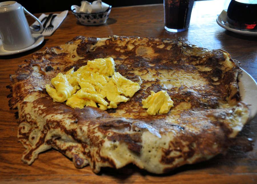 Pannekoeken at Dutch Mother's Restaurant in Lynden, Washington.