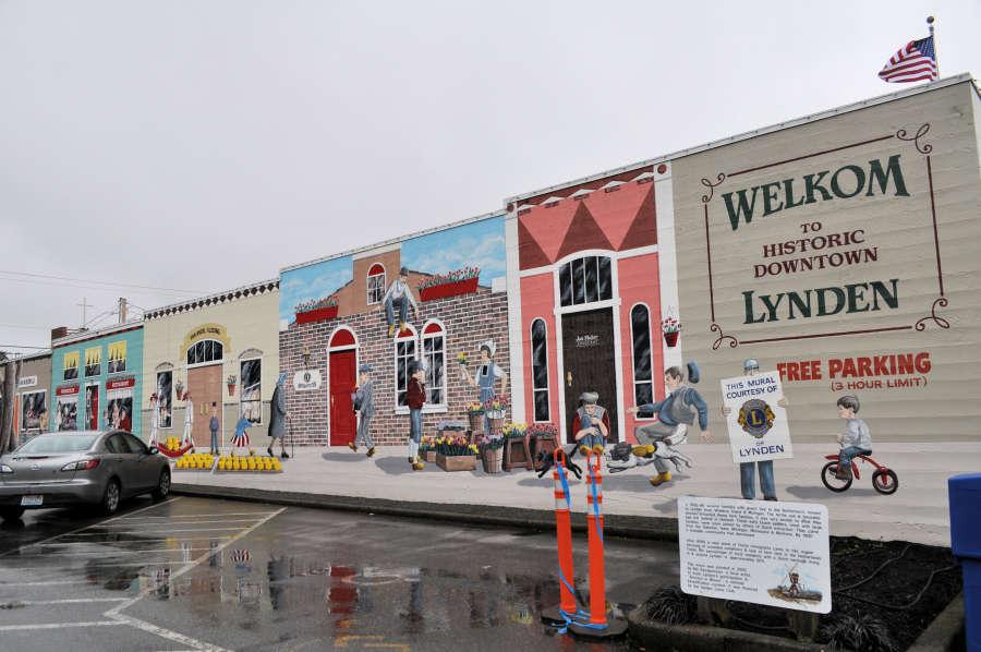 Mural in downtown Lynden, Washington.