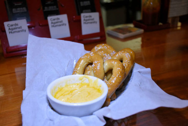 Beer cheese and pretzels from Rants and Raves in Moscow, Idaho.