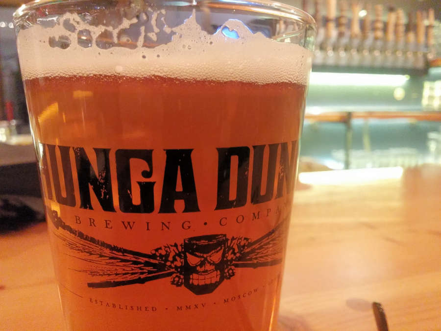 Beer from Hunga Dunga Brewing in Moscow, Idaho.
