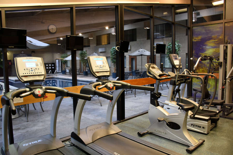 The exercise room at the Best Western PLUS University Inn in Moscow, Idaho.
