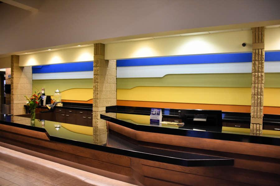 The lobby at the Best Western PLUS University Inn.