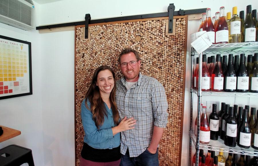 Cole and Stephanie Sisson of Doe Bay Wine Company.