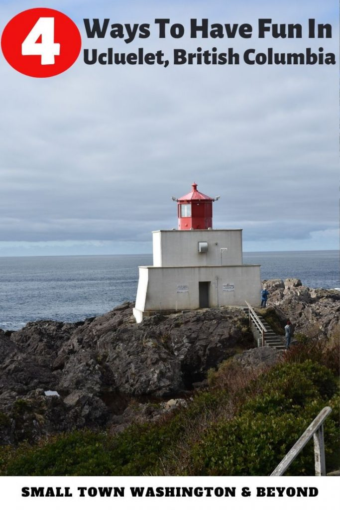 Hike to a lighthouse in Ucluelet, British Columbia.