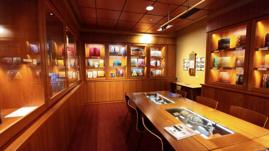 The book room at the Bainbridge Island Museum of Art.