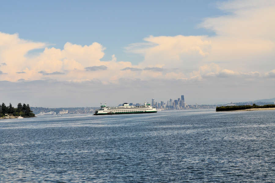 Ferry to Bainbridge Island and Seattle.
