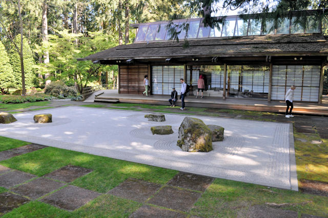 The Japanese guest house at Bloedel Reserve on Bainbridge Island.