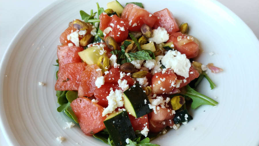 Watermelon salad at Cafe Nola.