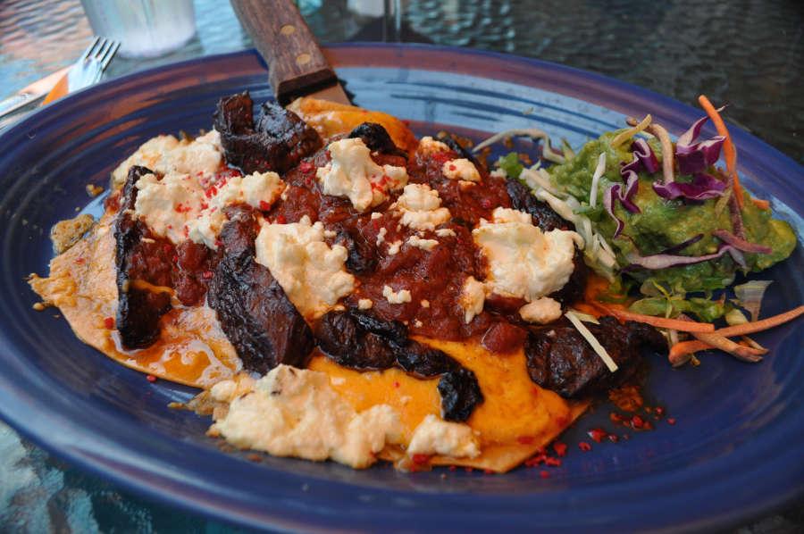 Enchiladas at San Carols on Bainbridge Island.