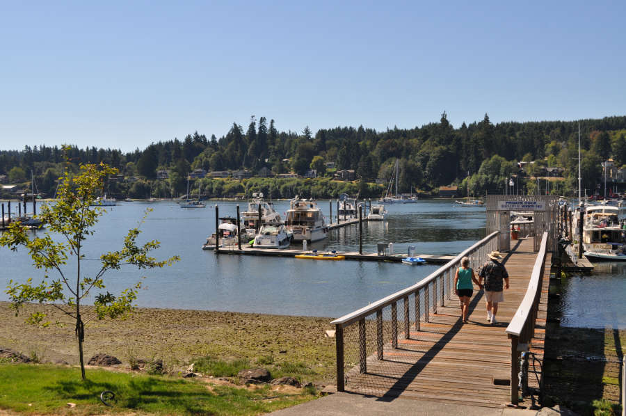 The waterfront trail on Bainbridge Island.