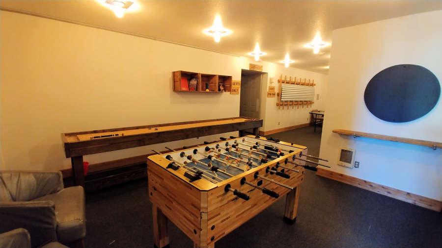 Game Room at the Adrift Hotel + Spa in Long Beach, Washington.