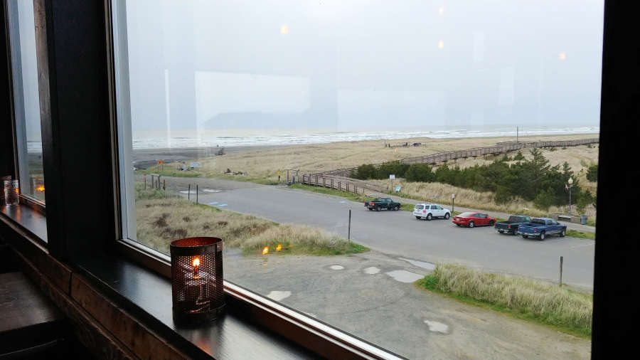 View from [pickled fish] in Long Beach, Washington.