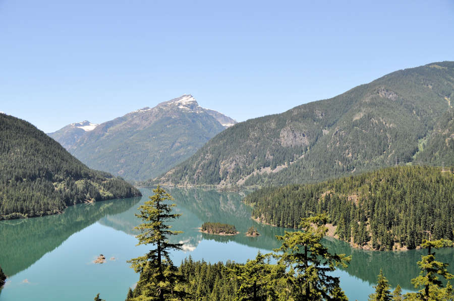 Diablo Lake lookout on HWY 20 in Washington State.
