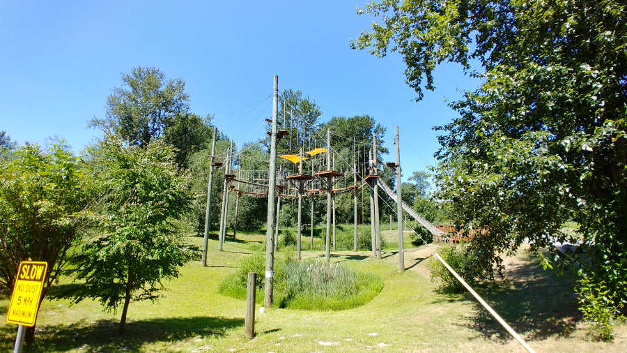 Adventura Aerial Adventure Park in Woodinville, Washington.