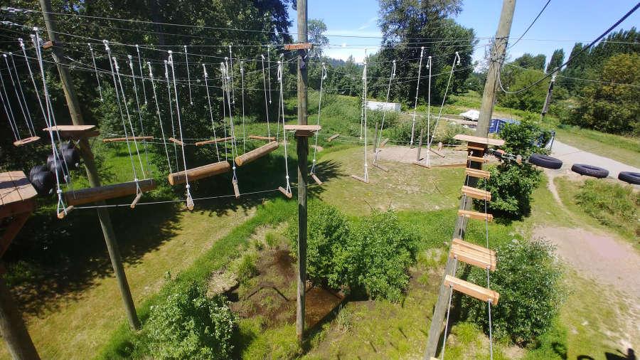 Course at Adventura Aerial Adventure Park in Woodinville, Washington.