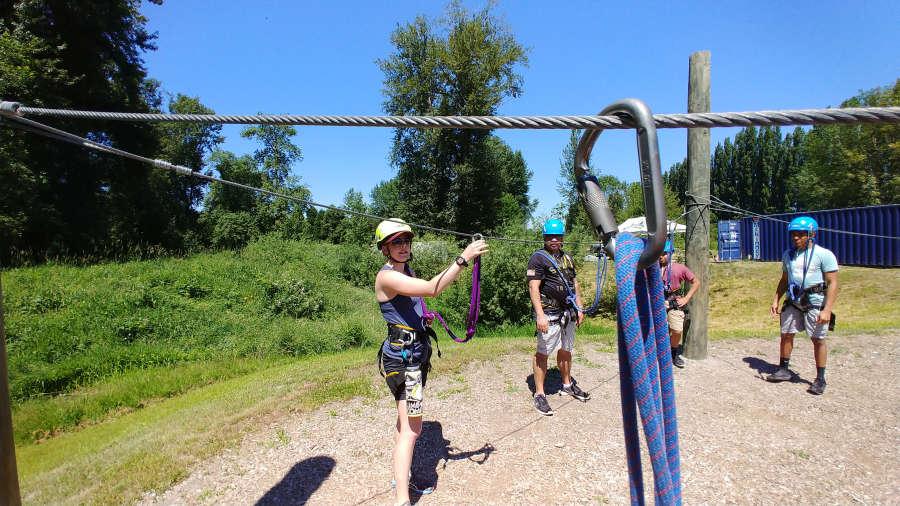 Adventura Aerial Adventure Park orientation.