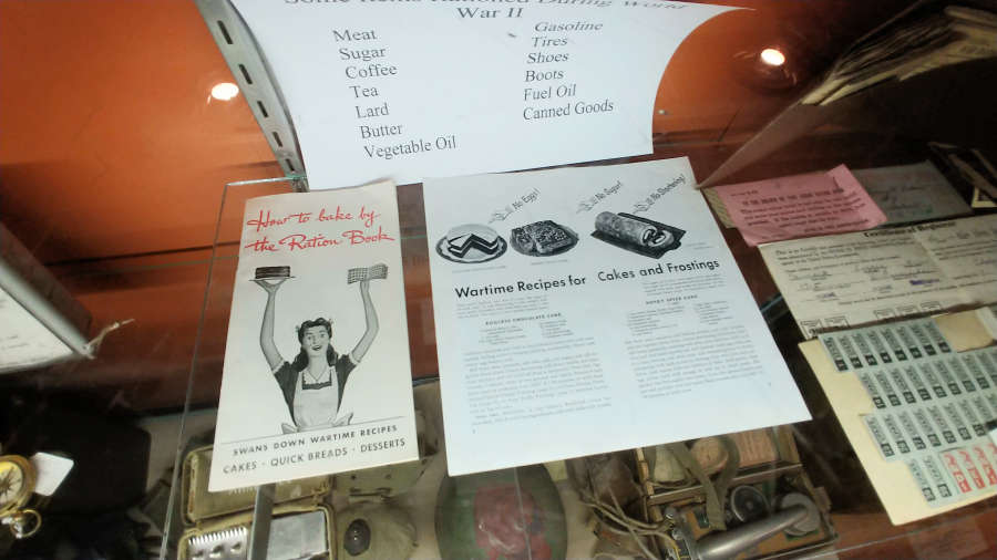 War time recipes at the Pioneer Museum in Rockford, Washington.