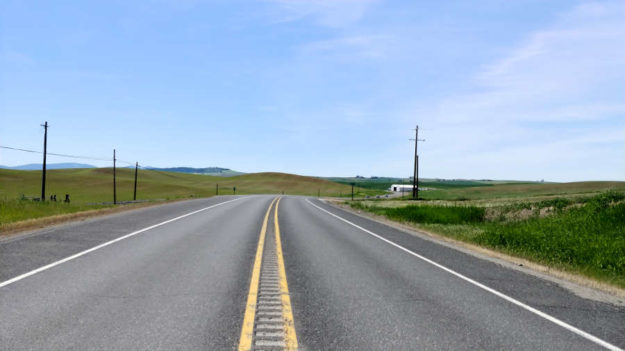 The Palouse Scenic Highway in Washington State.