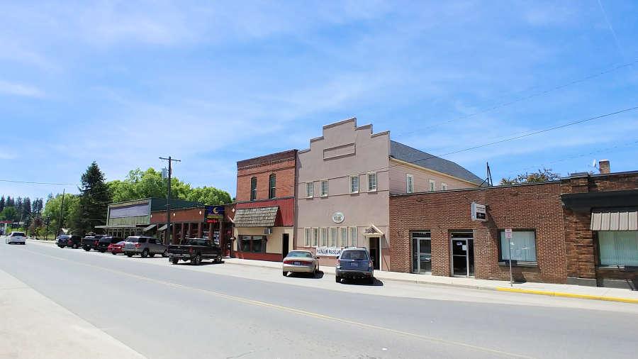Historic downtown in Rockford, Washington.