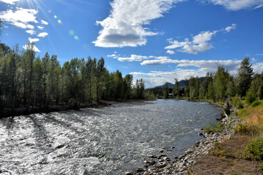The Methow River is right next to the River Run Inn in Winthrop, Washington.