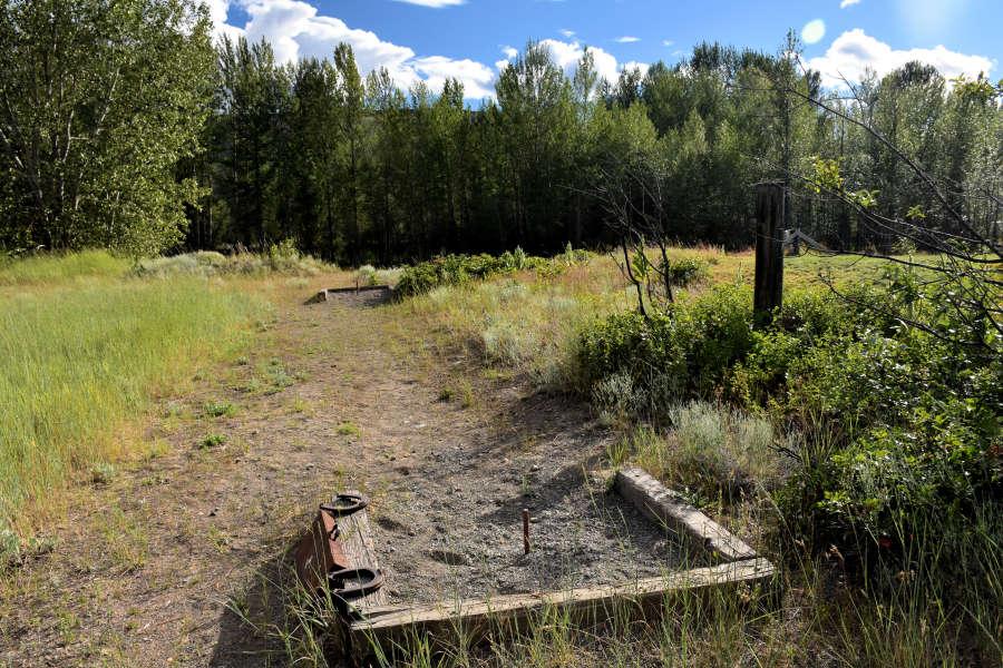 The horseshoe pit at River Run Inn in Winthrop, Washington.