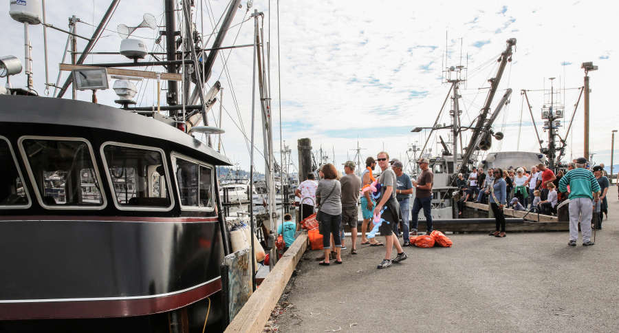 Fishing boat tour at SeaFeast in Bellingham, Washington.