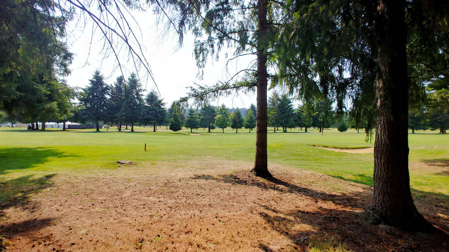 View of the golf course at the Best Western PLUS Plaza by the Green in Kent, Washington.