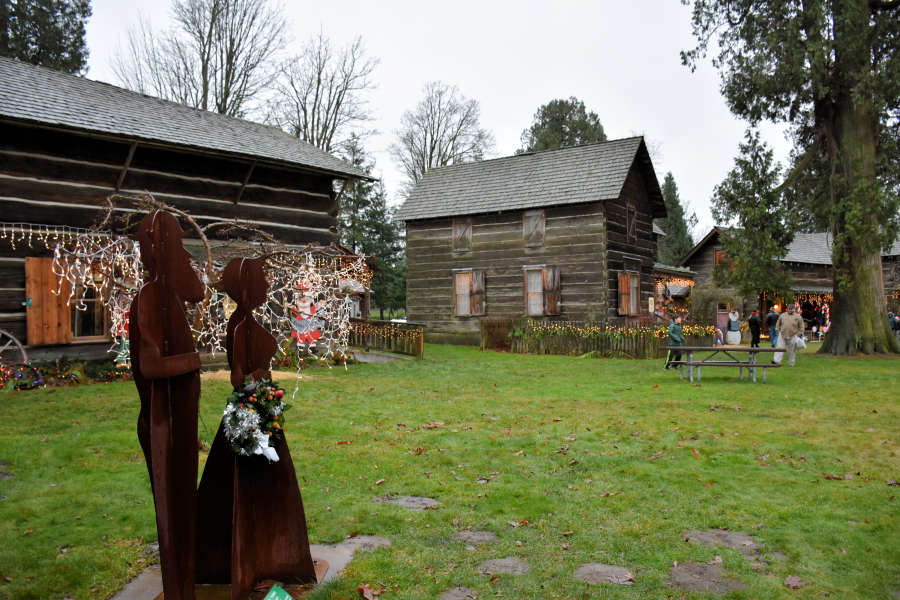 Olde Fashioned Christmas at Pioneer Park in Ferndale, Washington.
