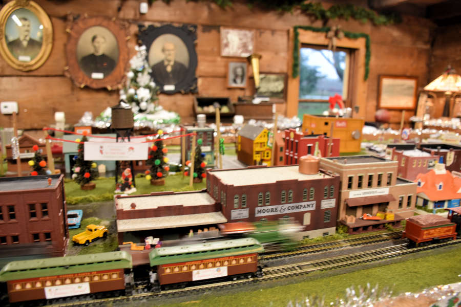 The model train Olde Fashioned Christmas at Pioneer Park in Ferndale, Washington.