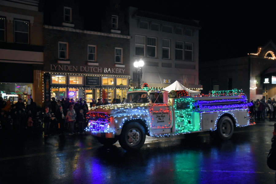 The Lighted Christmas Parade in Lynden, Washington.