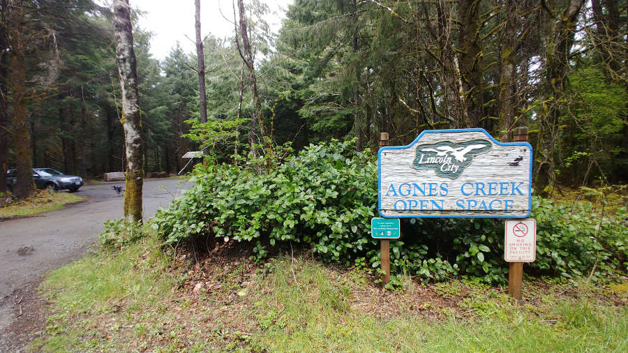 Agnes Creek Open Space in Lincoln City, Oregon.