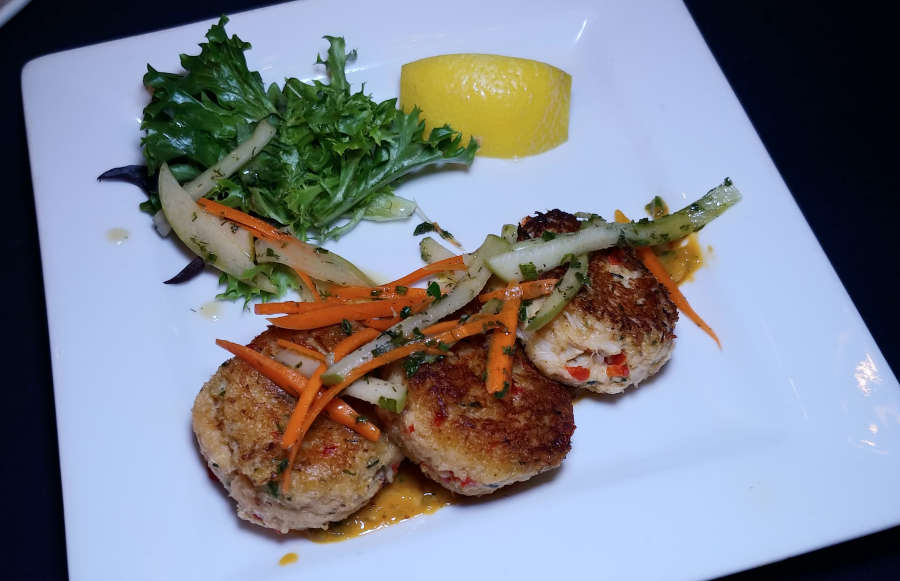 Crab cakes at The Steak House.