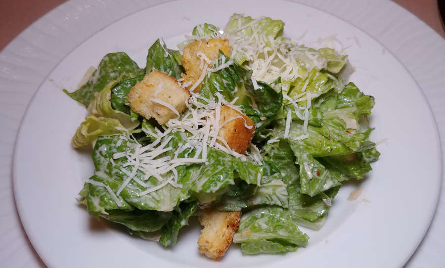 Table side Caesar salad at The Steak House.