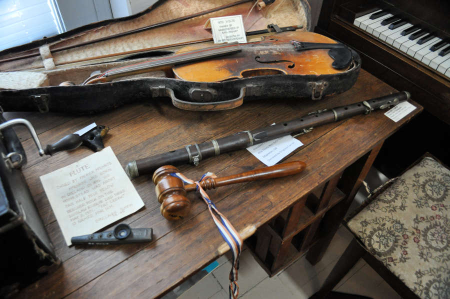 An antique flute at the Siulsaw Pioneer Museum in Florence, Oregon.