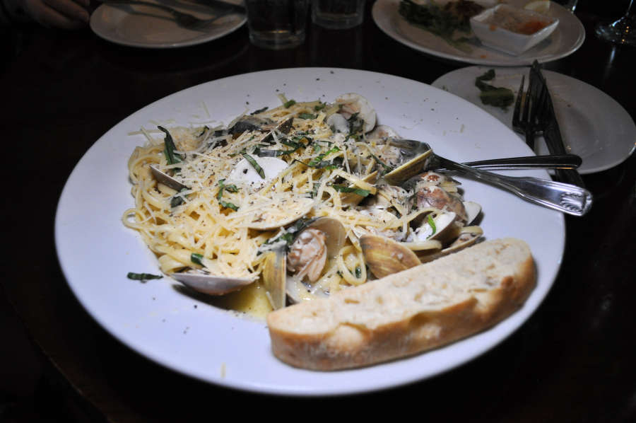 Seafood pasta at the Waterfront Depot Restaurant.