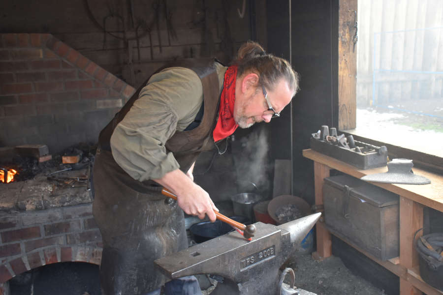 The blacksmith shop at Fort Langley National Historic Site.