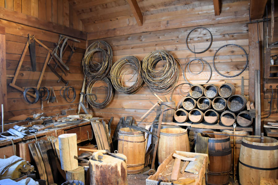 The cooperage at Fort Langley National Historic Site.