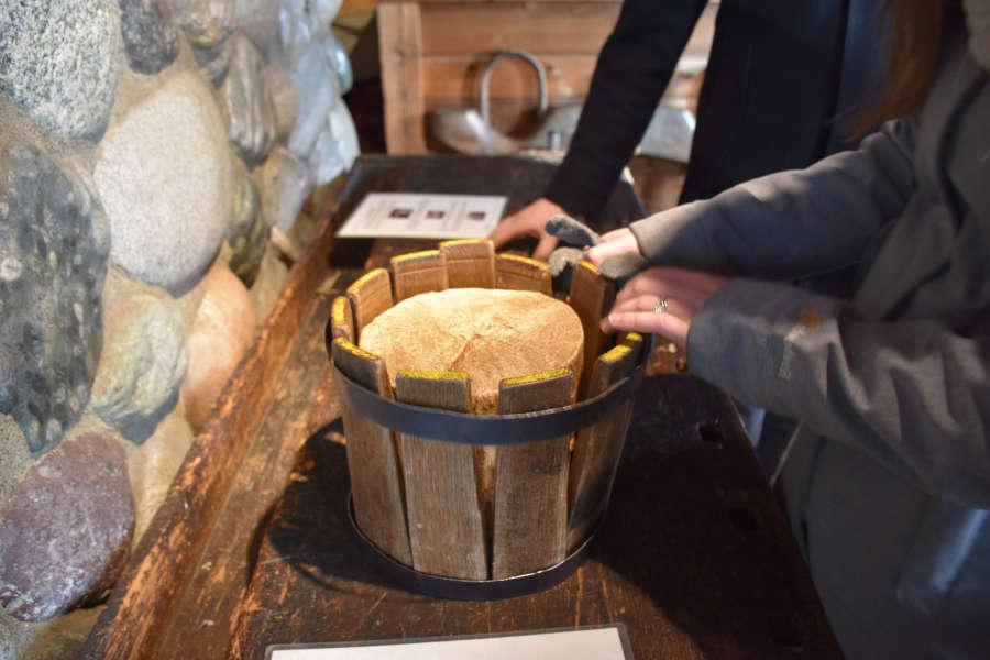 Making barrels at the cooperage.