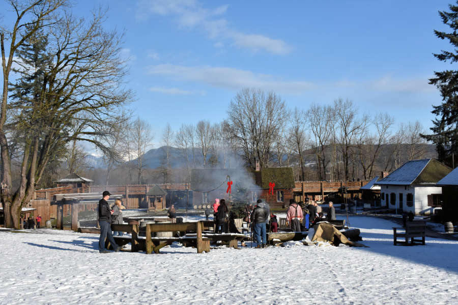 The communal fire pit at Fort Langley National Historic Site.
