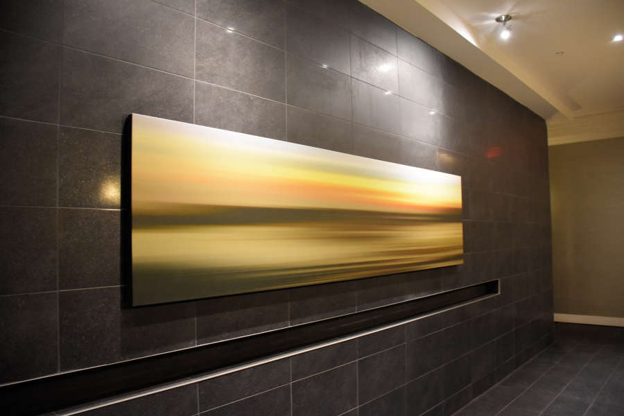 Contemporary paintings at the Sandman Signature Hotel.