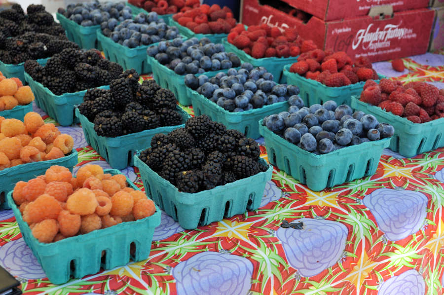 Berries at the Anacortes Farmers Market.