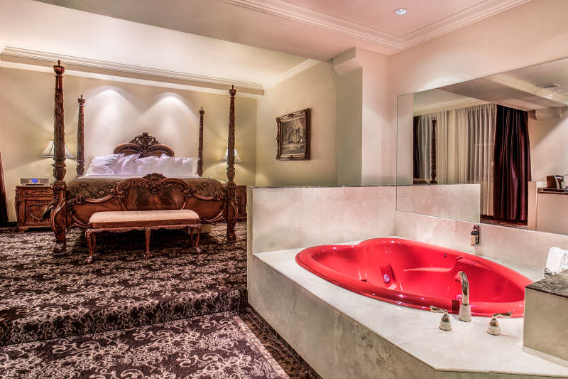 The honeymoon suite at The Historic Davenport Hotel.